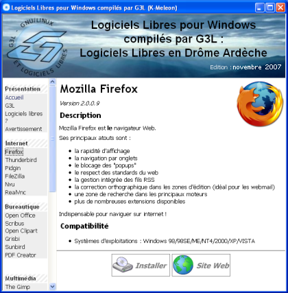 Screenshot CD G3L-Win