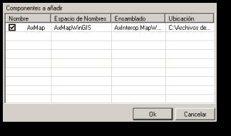 Componente AxMap