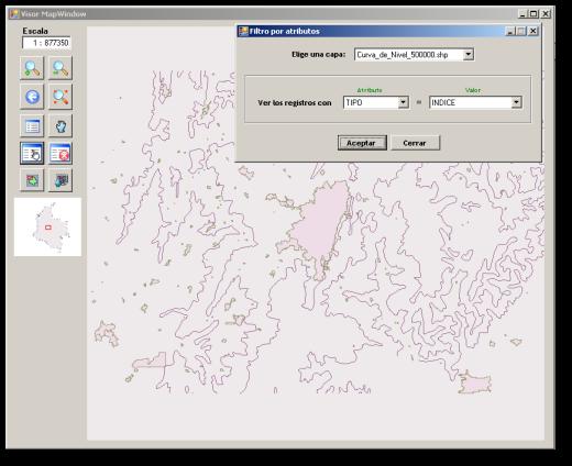 Mapa filtrado