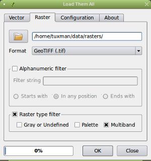 Raster type filter