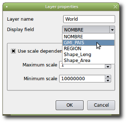 Layer properties dialog