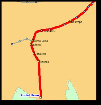 Etiquetas sobre la ruta