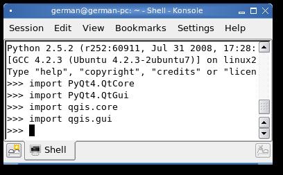 Consola de Python