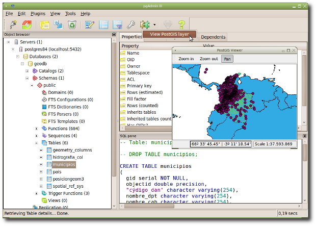 PostGIS Viewer for pgAdmin3 (Ubuntu/Linux)
