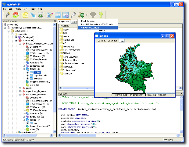 PostGIS Viewer for pgAdmin3 (Windows)