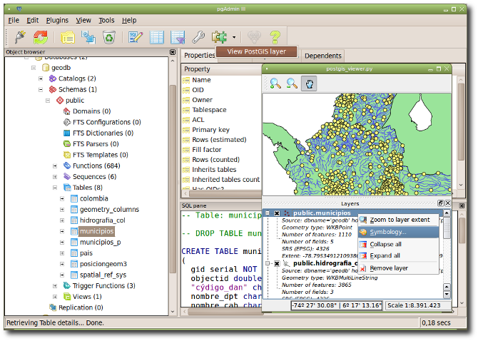 Plugin postgis viewer para pgAdmin (Linux)