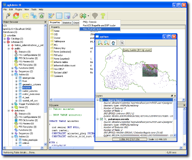 Postgis viewer plugin for pgAdmin (Windows)